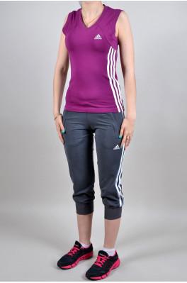 Спортивный костюм Adidas (Бриджи + майка) (4007-2)