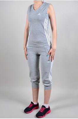 Спортивный костюм Adidas (Бриджи + майка) (4007-1)