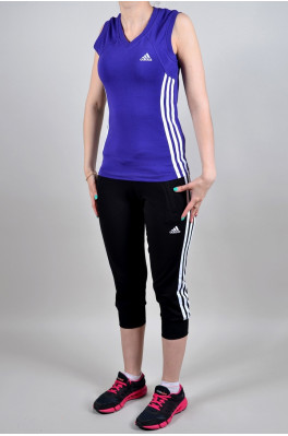 Спортивный костюм Adidas (Бриджи + майка) (4007-4)